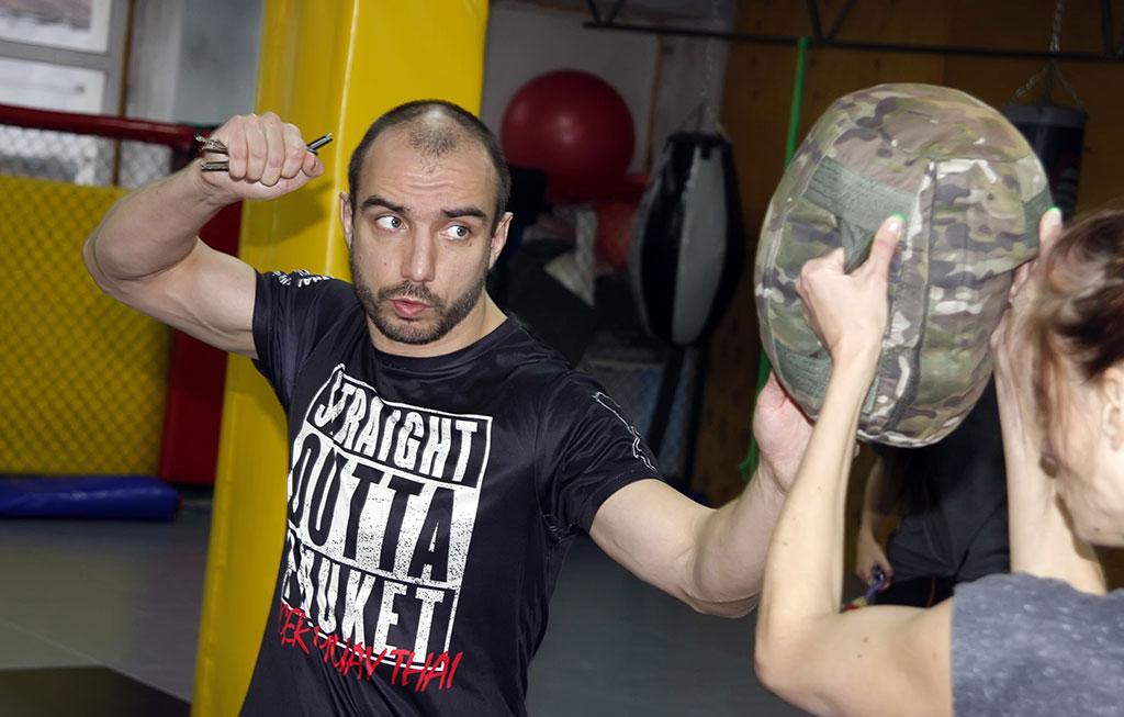 Наработка техник на снарядах и спарринги Крав Мага с Владимиром Кучмой